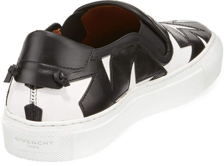 Givenchy Low Two-Tone Star Skate Sneakers