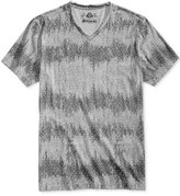 American Rag Men's Broken Diamond Geo-Print Stripe V-Neck T-Shirt, Only at Macy's