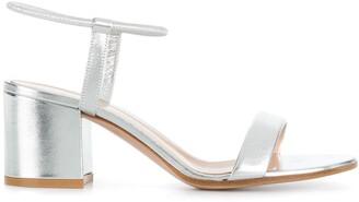 Gianvito Rossi Metallic Ankle Strap Sandals