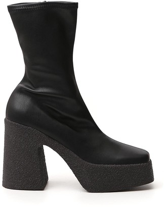 Stella McCartney Platform Square-Toe Boots