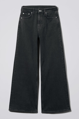 Weekday Ace High Wide Jeans - Black