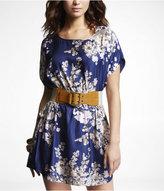 Express Floral Banded-Waist Dress