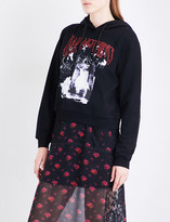 McQ Fear Nothing-print cotton-jersey hoody