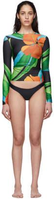 Louisa Ballou SSENSE Exclusive Black Surf Long Sleeve Bikini Set