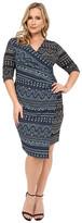 Kiyonna Chic Cinch Faux Wrap Dress