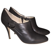 Christian Dior Grey Leather Ankle boots