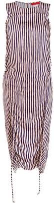 Eckhaus Latta gathered striped dress
