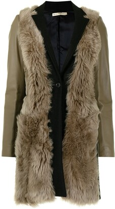 Balenciaga Pre-Owned Fur Panel Buttoned Coat