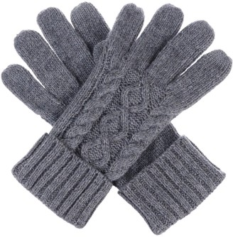Be Your Own Style Womens Winter Cable Knit Texting Gloves for All Touchscreen Devices Smartphone Tablet - Grey - One Size Fits Most