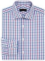 Ike Behar Multi Check Regular Fit Dress Shirt