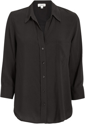 L'Agence Ryan Silk Button Down Blouse