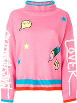 Mira Mikati Marshmallow Lover Blend Wool Turtle-neck Sweater