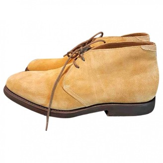Brunello Cucinelli Camel Suede Boots