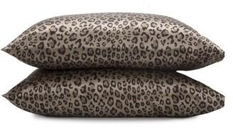 Seduction Satin Standard Leopard Pillowcase Pair