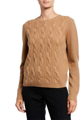 Max Mara Termoli Cashmere Cable-Stitched Sweater