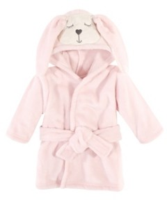 Hudson Baby Baby Girls and Boys Modern Bunny Plush Animal Face Bathrobe