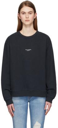 Acne Studios Black Reverse Logo Sweatshirt