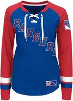 Majestic Women's New York Rangers Hip Check Long Sleeve T-Shirt