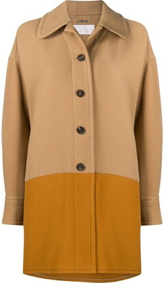 Chloé Two-Tone Single-Breasted Coat