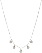 Gemma Collection Silver Disc Necklace