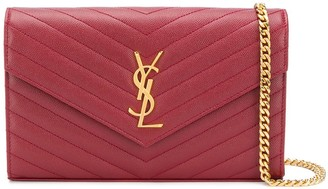 Saint Laurent Monogram Envelope Clutch