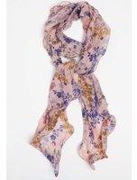 Dorothy Perkins Womens Pink Wavy Edge Floral Print Scarf- Pink