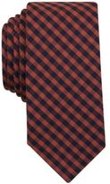 Bar III Men's Rust Dobby Gingham Slim Tie, Created for Macy's