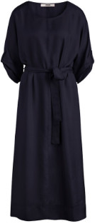 Zenggi Blue Silky Relaxed Wide Dress - l