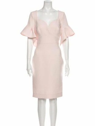 Zac Posen V-Neck Mini Dress w/ Tags Pink