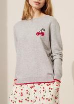 Chinti \u0026 parker Chinti & Parker Cherry Breton Sweater Grey
