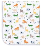 Kissy Kissy White Jungle Print Reversible Blanket
