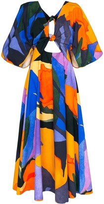 Mara Hoffman Lelia graphic-print organic cotton maxi dress