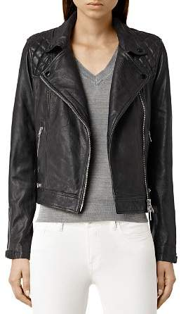 AllSaints Conroy Quilted Leather Biker Jacket