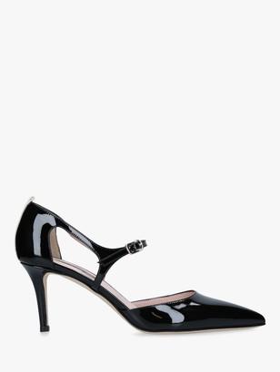 Sarah Jessica Parker by Sarah Jessica Phoebe Leather Stiletto Heel Court Shoes, Black Patent