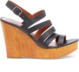 Sole Society Larinaa strappy leather wedge