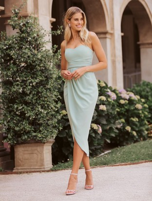 Ever New Whitney Sweetheart Drape Maxi Dress