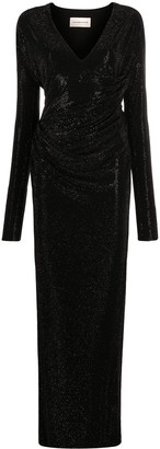Alexandre Vauthier Ruched Long-Sleeved Maxi Dress