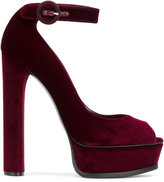 Casadei platform sandals - women - Chamois Leather/Leather/Nappa Leather/Velvet - 37