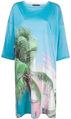 Moschino palm tree T-shirt dress