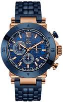 GUESS GC Blue & Rose Gold Timepiece