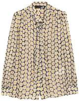 Love Moschino Pussy Bow Printed Chiffon Top