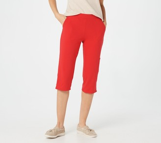 Denim & Co. Petite Active French Terry Cargo Capri Pant