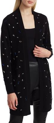 Saks Fifth Avenue Scattered Jewel Wool Duster Cardigan