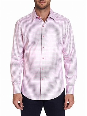 Robert Graham Russell Cotton Stretch Ombre Broken Stripe Classic Fit Button-Up Shirt