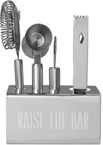 Asstd National Brand Personalized Stainless-Steel Mixology Set