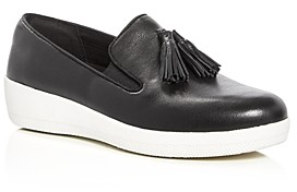 FitFlop Women's Superskate Leather Tassel Sneaker Loafers