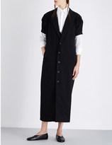 Yohji Yamamoto Pleated-sleeve wool coat