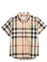 Burberry Boy's Fred Plaid Woven Shirt