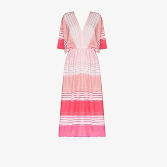 Lemlem Eshal striped cotton kaftan dress