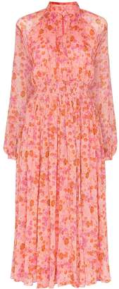 By Ti Mo byTiMo smocked-waist floral midi-dress